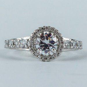 Jewelry - 3/$20 Engagement Style Ring Round Halo Setting